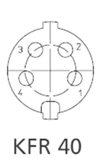 DIN beépíthető alj, 4 pólusú, IG KFR 40