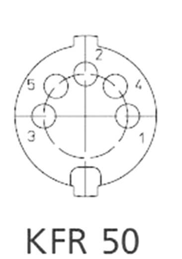 DIN beépíthető alj, 5 pólusú, IG KFR 50