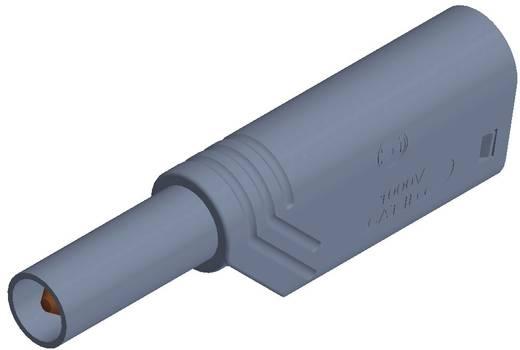Hirschmann csavaros biztonsági lamellás banándugó, egyenes, Ø 4 mm, 24A, szürke, LAS S WS SKS