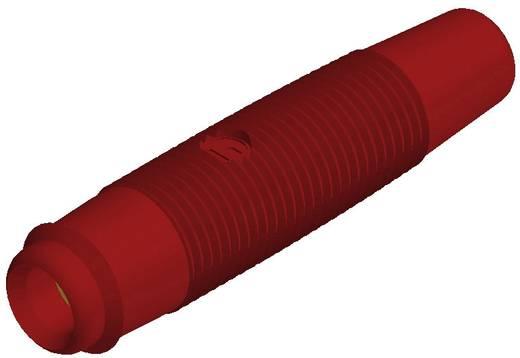 Hirschmann forrasztós lengő banánhüvely, egyenes, Ø 4 mm, piros, KUN 30 Au SKS