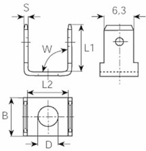 Dugaszoló nyelv Dugasz szélesség: 6.3 mm Dugaszolási vastagság: 0.8 mm 90 °, 90 ° Szigetelés nélkül Fémes Vogt Verbindungstechnik 3876C.67 1 db