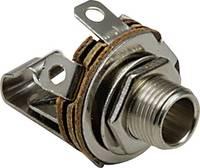 Jack aljzat előlapra szerelhető 6,35 mm mono , 1109001 BKL Electronic BKL Electronic