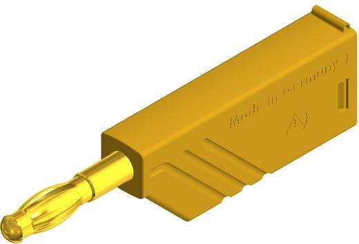 Hirschmann csavaros lamellás banándugó, egyenes, Ø 4 mm, sárga, LAS N WS Au SKS