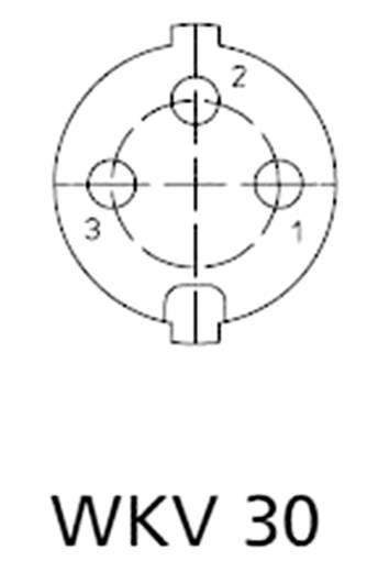 DIN lengő alj, 3 pólusú, szögletes, WKV 30