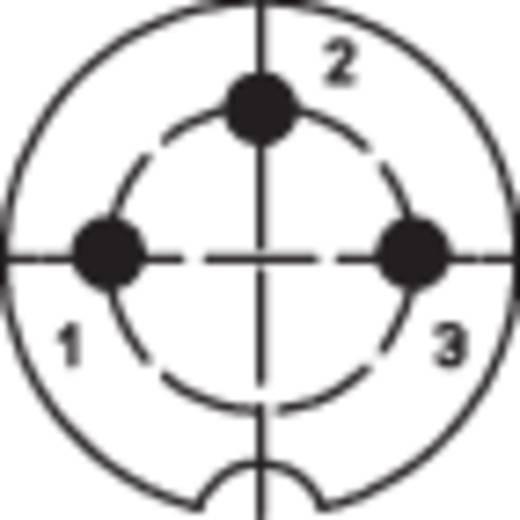 DIN kerek csatlakozóhüvely alj, egyenes pólusszám: 3 ezüst Lumberg 0321 03 1 db
