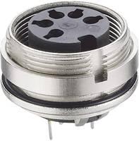 DIN beépíthető alj, 5 pólusú, nyáklapba építhető, 0307 05-1 (0307 05-1) Lumberg