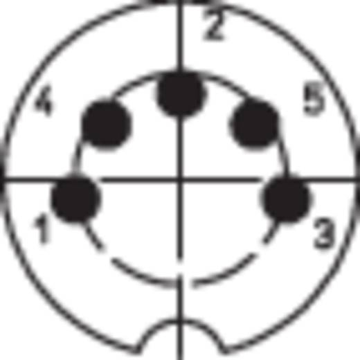 DIN kerek csatlakozóhüvely dugó, egyenes pólusszám: 5 ezüst BKL Electronic 0202003 1 db