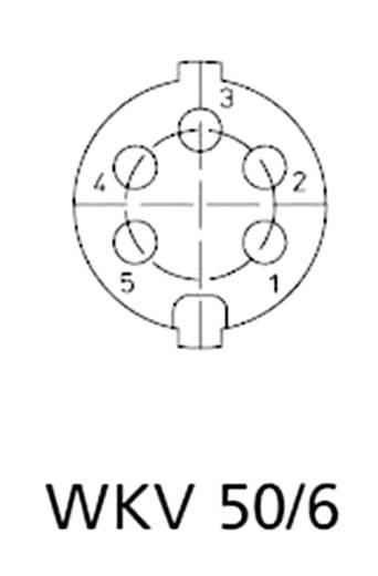 DIN lengő alj, 6 pólusú, szögletes, WKV 60
