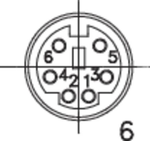 Miniatűr csatlakozó; Pólusszám=6 dugó, egyenes MP-371/S6 Lumberg