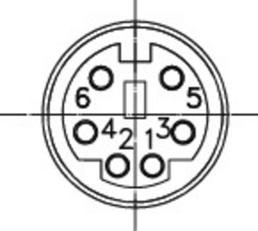 Miniatűr csatlakozó; Pólusszám=6 alj, egyenes MJ-372/6 Lumberg