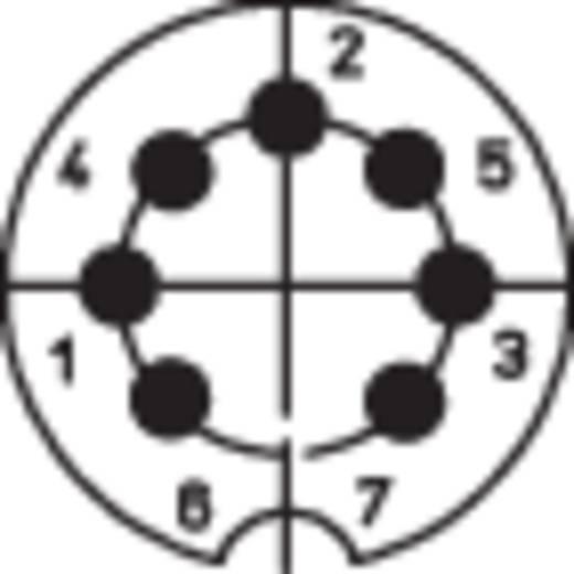 DIN kerek csatlakozóhüvely peremes hüvely, egyenes érintkezők pólusszám: 7 ezüst BKL Electronic 0202020 1 db
