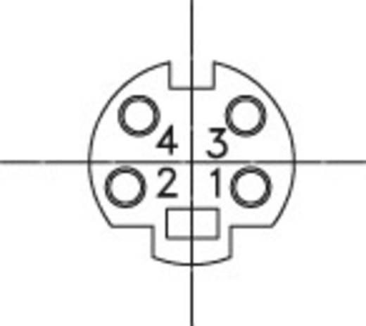 DIN kerek csatlakozóhüvely alj, beépíthető, vízszintes pólusszám: 4 fekete BKL Electronic 0204048 1 db