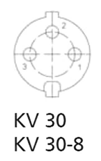 DIN lengő alj, 3 pólusú, egyenes, KV 30