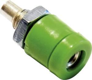 Schnepp BU 2400 Miniatűr laboratóriumi hüvely Alj, beépíthető, függőleges Tű átmérő: 2 mm Zöld 1 db Schnepp