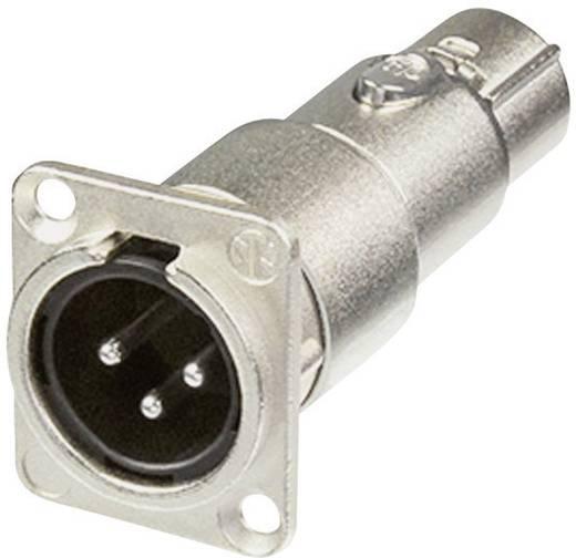Neutrik XLR beépíthető peremes dugó/alj, 3 pól., NA3MDF