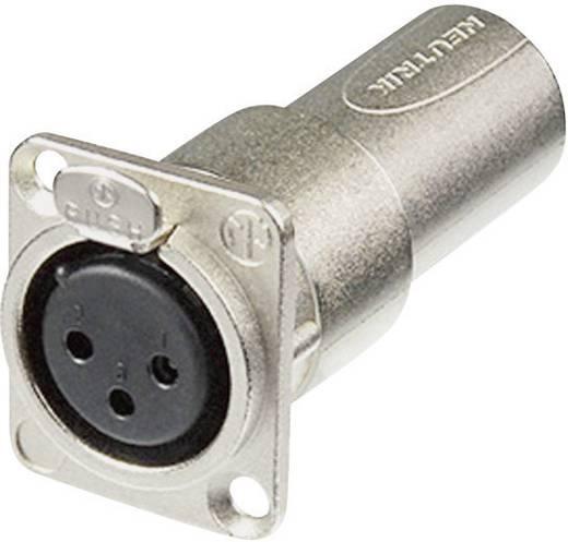 Neutrik XLR beépíthető peremes alj/dugó, 3 pól., NA3FDM