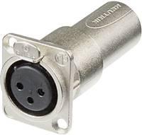 Neutrik XLR beépíthető peremes alj/dugó, 3 pól., NA3FDM Neutrik