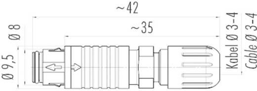 Szubminiatűr kerek dugaszolható csatlakozó, 420-as sorozat, pólusszám: 3, Binder 99-4705-00-03