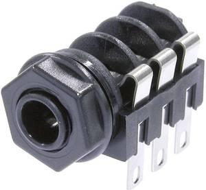 Beépített jack csatlakozóaljzat 6,35 mm Beépíthető hüvely Pólusszám=6 NMJ6HF-S Neutrik Neutrik