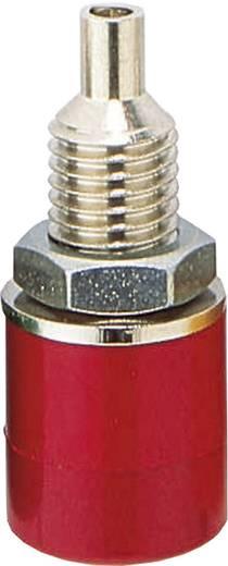Szigetelt banánhüvely 4/23mm piros