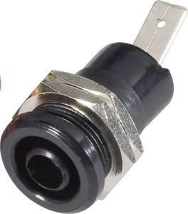 Biztonsági csatlakozó hüvely belül 4 MM fekete (BU 4600 sw) Schnepp