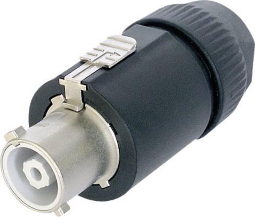 Hálózati csatlakozó dugó, egyenes, pólusszám: 3 32 A, fekete, Neutrik NAC3FC-HC