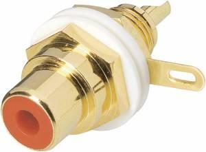 BKL Electronic beépíthető aranyozott RCA aljzat, piros, 0101144-C-P BKL Electronic