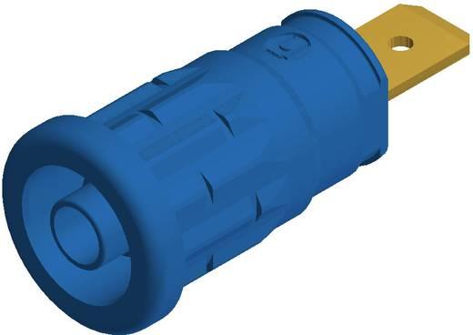 SKS Hirschmann beépíthető biztonsági banánhüvely, Ø 4mm, kék, SEP 2620