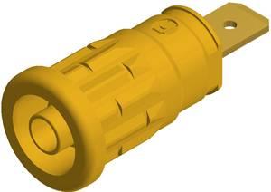 SKS Hirschmann beépíthető biztonsági banánhüvely, Ø 4mm, sárga, SEP 2620 SKS Hirschmann