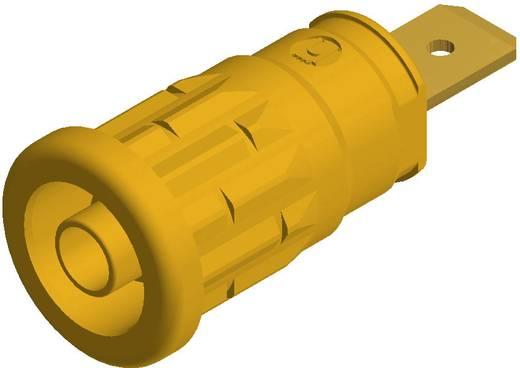 SKS Hirschmann beépíthető biztonsági banánhüvely, Ø 4mm, sárga, SEP 2620