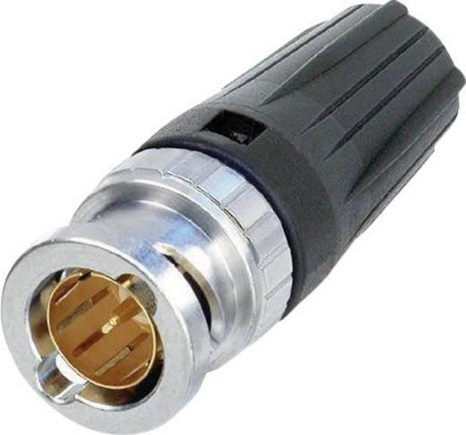 RearTwist® BNC dugó, krimpelhető, egyenes, nikkelezett PA6, NBNC 75 BUU 11
