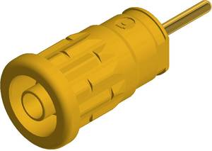 SKS Hirschmann beépíthető biztonsági banánhüvely, Ø 4mm, sárga, SEP 2630 SKS Hirschmann