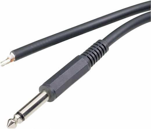Audiokábel és csatlakozó, 6,3 sztereo, egyenes 1,8M