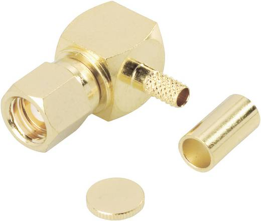 BKL Electronic SMC krimpelhető könyök csatlakozó alj, réz, aranyozott, 414 010