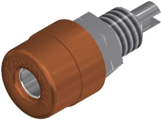 Beépíthető banándugó aljzat 4mm-es barna SKS Hirschmann BIL 20