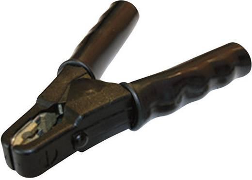 Töltő- és akkucsipesz 600 A, csavaros M6, fekete, teljesen szigetelt, SET SZ61