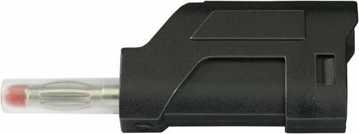 SCI lamellás banándugó, csavaros, Ø 4 mm, 10 A, fekete