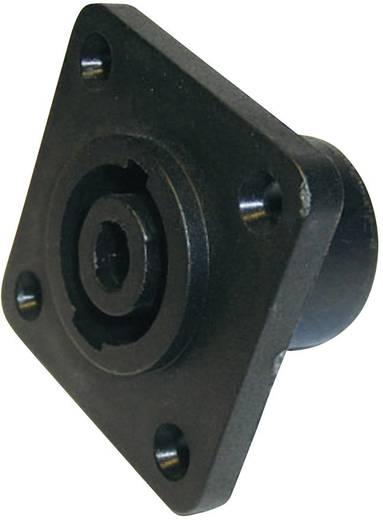 Hangszóró csatlakozó peremes hüvely, egyenes érintkezők pólusszám: 4 fekete Cliff FM1275 1 db