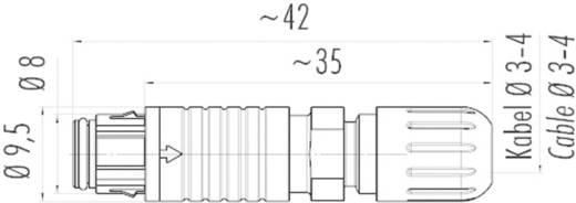 Szubminiatűr kerek dugaszolható csatlakozó, 420-as sorozat Pólusszám: 3 Kábel doboz 1 A 99-4706-00-03 Binder 1 db