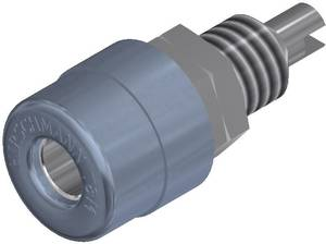 Beépíthető banándugó aljzat 4mm-es szürke SKS Hirschmann BIL 20 SKS Hirschmann