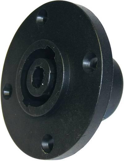 Hangszóró csatlakozó peremes hüvely, egyenes érintkezők pólusszám: 4 fekete Cliff FM1280 1 db