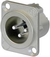 XLR csatlakozó peremes dugó, egyenes érintkezők pólusszám: 3 ezüst Neutrik NC3MD-LX 1 db (NC3MD-LX) Neutrik