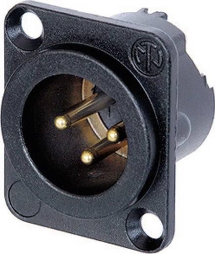 XLR csatlakozó peremes dugó, egyenes érintkezők pólusszám: 3 fekete Neutrik NC3MD-LX-B 1 db