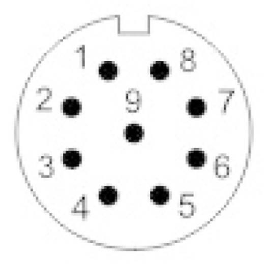 IP68 védettségű csatlakozók, SP13 sorozat Pólusszám: 9 Készülékhüvely előlapi szereléshez 3 A SP1312 / S 9 Weipu 1 db