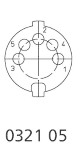DIN kerek csatlakozóhüvely dugó, egyenes pólusszám: 5 ezüst Lumberg 0331 05 1 db