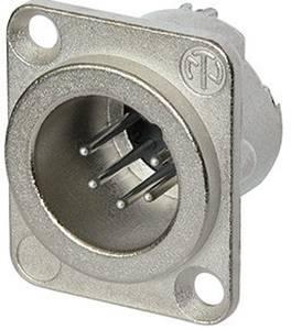 XLR csatlakozó peremes dugó, egyenes érintkezők pólusszám: 5 ezüst Neutrik NC5MD-LX 1 db Neutrik