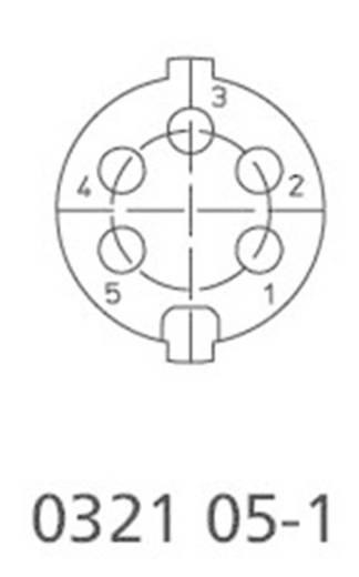 DIN kerek csatlakozóhüvely dugó, egyenes pólusszám: 5 ezüst Lumberg 0331 05-1 1 db