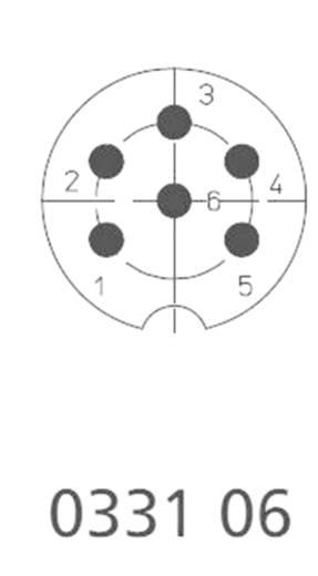 DIN kerek csatlakozóhüvely dugó, egyenes pólusszám: 6 ezüst Lumberg 0331 06 1 db