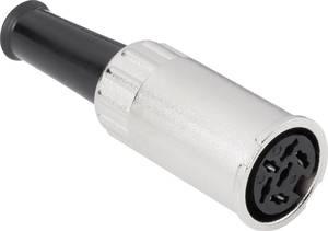 DIN kerek csatlakozóhüvely alj, egyenes pólusszám: 5 ezüst BKL Electronic 0202010 1 db BKL Electronic