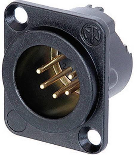 XLR csatlakozó peremes dugó, egyenes érintkezők pólusszám: 5 fekete Neutrik NC5MD-LX-B 1 db